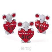 Vinyl mouse Gods's love is so big set3