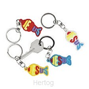 Keychain Jesus/fish set3