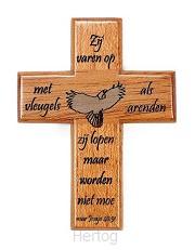 Kruis magn zij varen op met vleugels als