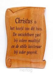 Wandbord 20x13.5 Christus is hoofd van d