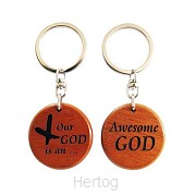 Keyring 2 sided awesome God