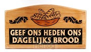 Wandbord hout 35x19.5cm geef ons heden