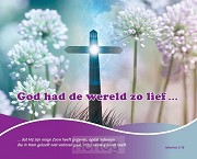 Wandbord 24x30cm Johannes 3:16