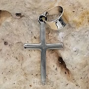 925 Silver Pendant Cross 25x12x1mm