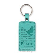 Leather keyring dove peace