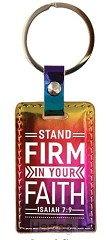 Keyring iridescent stand firm