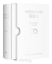 KJV wedding bible in slipcase White HC