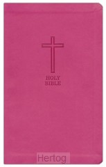 KJV thinline Bible Pink Leathersoft