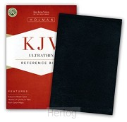 KJV bible ultrathin reference black