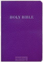 KJV gift & award bible purple imitation
