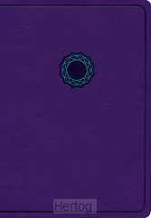 KJV deluxe gift bible purple/teal leathe