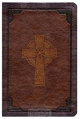 KJV - LP Comp. Ref. Bible, Brown Imit. L