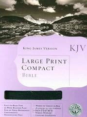 KJV Large print compact bible black bon