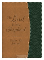 Leather covered journal Lord is my sheph
