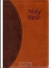 KJVA LP Text Bible, Brown Tutone