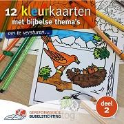 12 kleurkaarten dl2 met bijbelse thema s