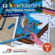 12 kleurkaarten dl3 met bijbelse thema s