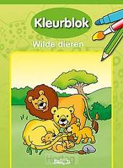 Kleurblok wilde dieren