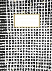 Zwart wit goud schrift (ruiten)