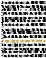 Zwart wit goud spiraalboek groot (lijnen