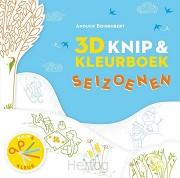 3D Knip- en kleurboek seizoenen