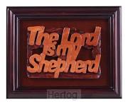 Lijst 18x22cm hout the Lord is my shephe