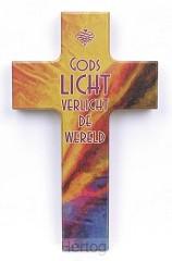 Kruis hout 20cm Gods licht verlicht