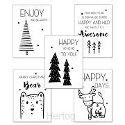 Kerstkaarten set 1 (5 stuks)