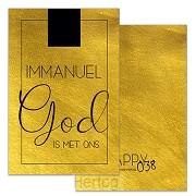 Kadokaartje kerst Immanuel