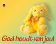 Kadokaartje God houdt van jou