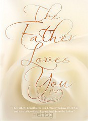 Wandbord A3 the Father loves you