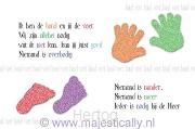 Kinderkaart dit is mijn hand en dat mijn