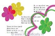 Kinderkaart zegenliedje
