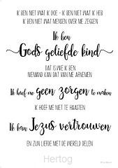 Wandbord Gods geliefde kind