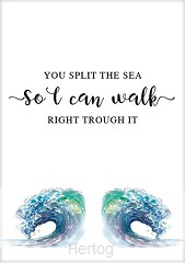 Kaart you split the sea so I can walk