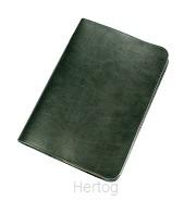 Bijbelhoes 15.4x22.3x3.9 rundleer groen