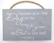 Geprezen zij de Here, Dag aan dag
