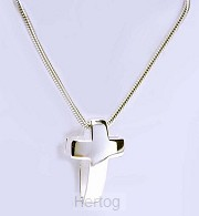 Ketting hanger kruis sterling-zilver