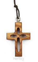 Kruis hanger hout aan koord