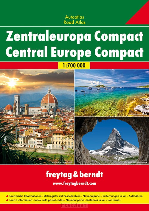 Centraal Europa Compact Wegenatlas F&B