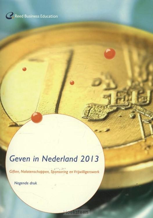 Geven in Nederland 2013 (e-boek)   Theo Schuyt   9789035246942   Boekhandel De Hoeksteen, Woerden