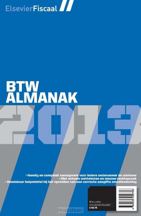 Elsevier btw almanak / 2013 (e-boek) | Jacques van Blijswijk | 9789035250840 | Boekhandel De Hoeksteen, Woerden