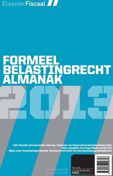 Elsevier formeel belastingrecht almanak / 2013 (e-boek)   9789035250888   Boekhandel De Hoeksteen, Woerden