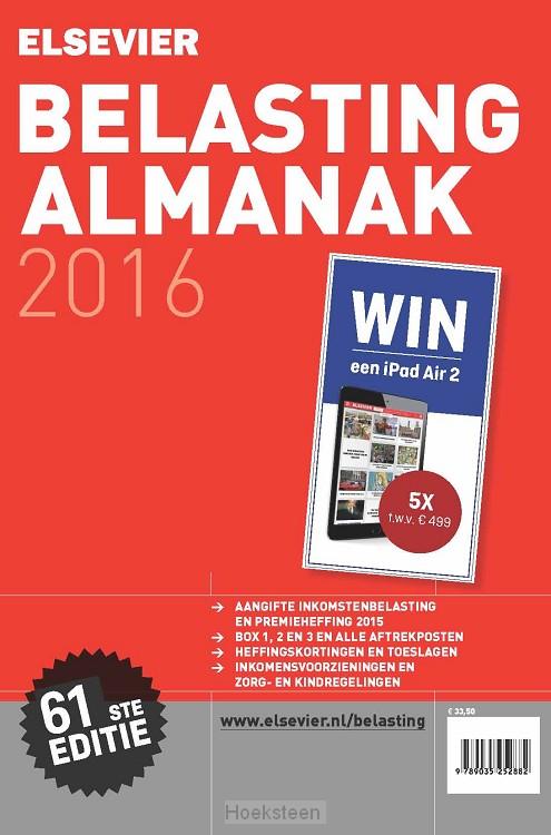 Elsevier belasting almanak / 2016 (e-boek) | 9789035252882 | Boekhandel De Hoeksteen, Woerden