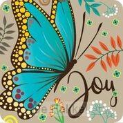 Onderzetter: Joy Vlinder (nieuw)
