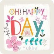 Onderzetter: Oh Happy Day (nieuw)