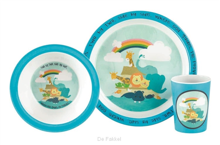 Noah's Ark - Plate, Bowl and Cup