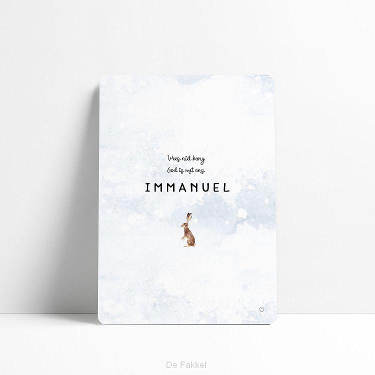 Wees niet bang Immanuel