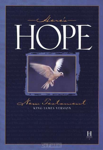 Here''s hope new testament KJV colour in