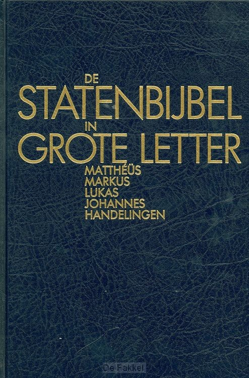 Statenbijbel grote letter NT1 Mattheus-H